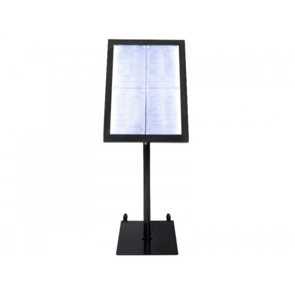 Display meniuri restaurant, interior, exterior, Black Star iluminat LED