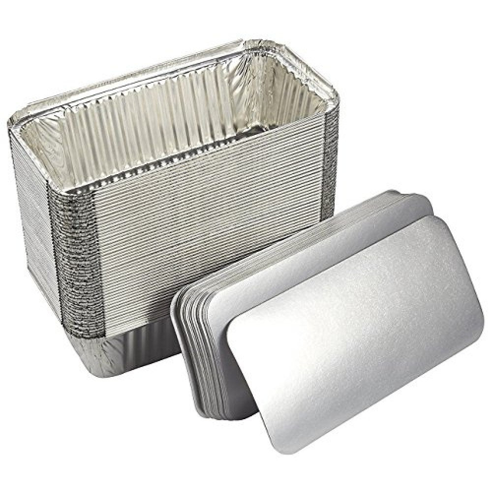 Capace caserola aluminiu 100 buc/set