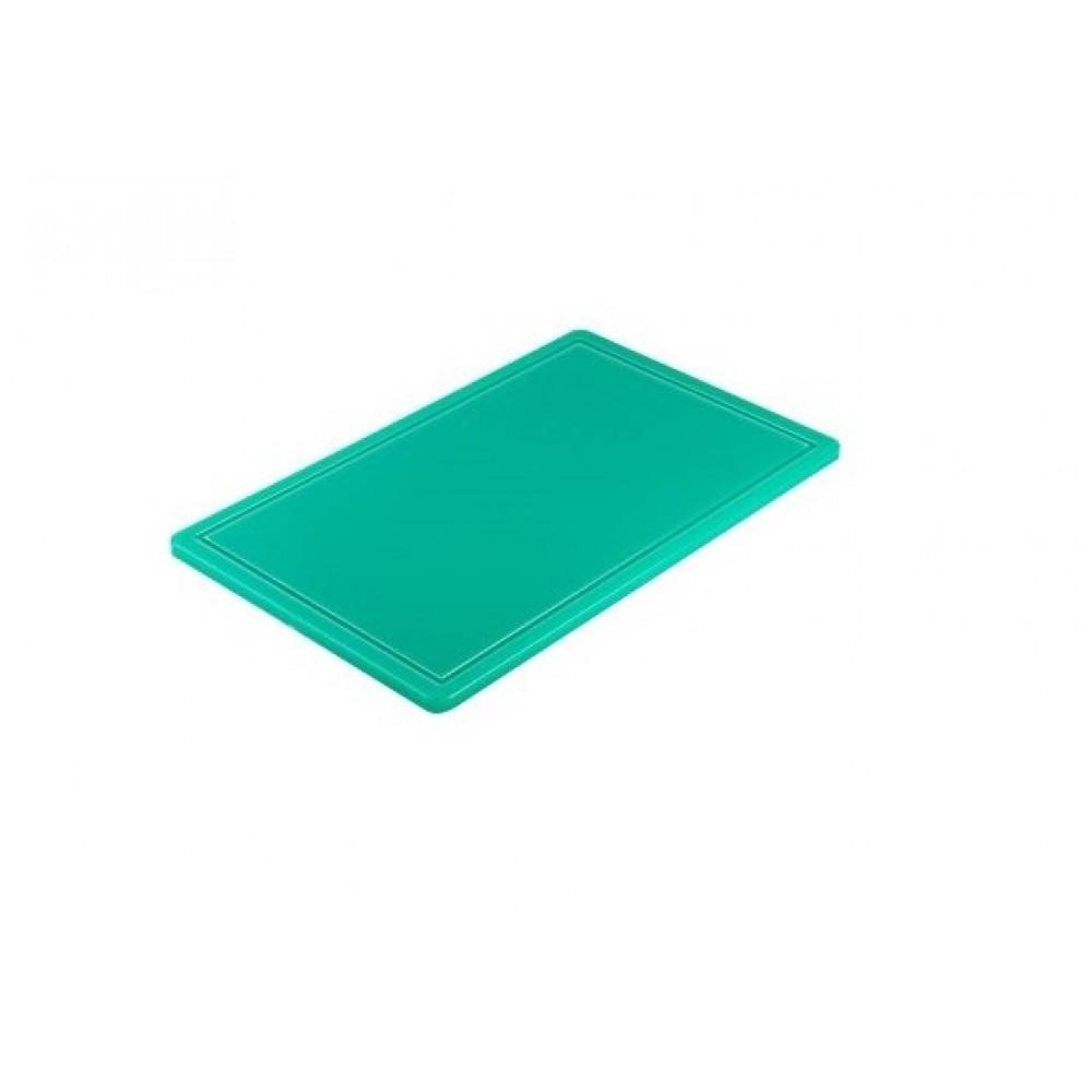 Tocator polietilena, Verde, haccp, GN 1/1, 53x32.5x1.5 cm